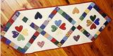 Scrappy Hearts Tablerunner